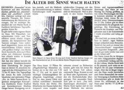 Eschborn - Bad Soden - Schwalbacher Zeitung vom 19. August 2003